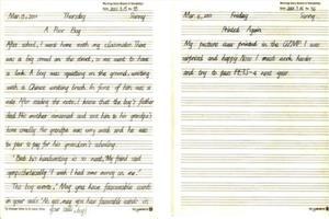 英语日记格式